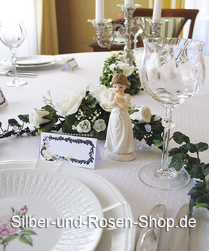 deko kommunion konfirmation silber und rosen shop. Black Bedroom Furniture Sets. Home Design Ideas