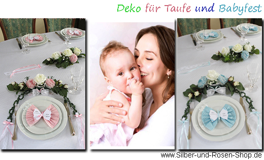 deko baby taufe silber und rosen shop. Black Bedroom Furniture Sets. Home Design Ideas