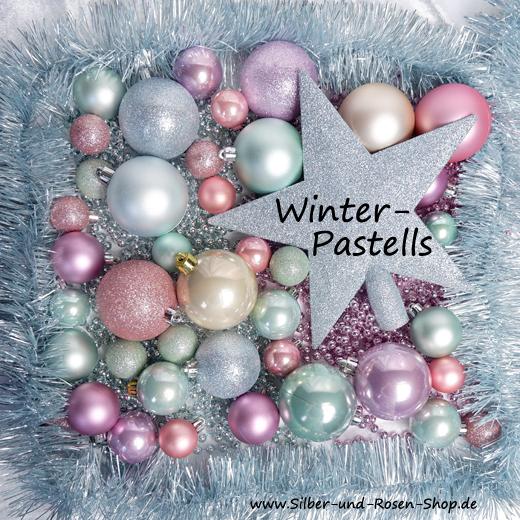 weihnachtsdeko pastell zum bestellen bei silber und rosen shop. Black Bedroom Furniture Sets. Home Design Ideas