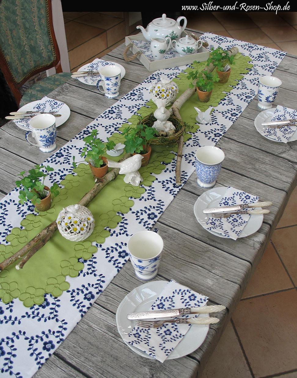 Tischdeko fr hling for Tischdeko silber