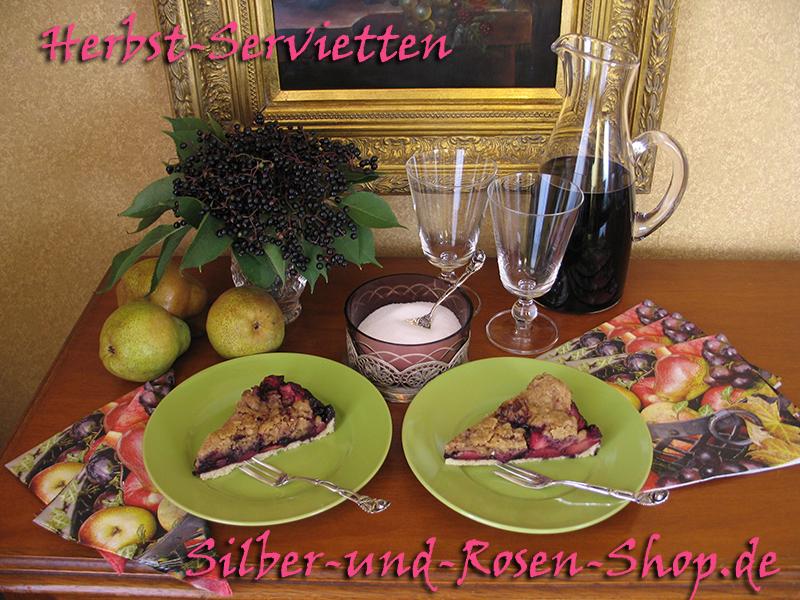 holunderkuchen mit birnen silber und rosen shop. Black Bedroom Furniture Sets. Home Design Ideas