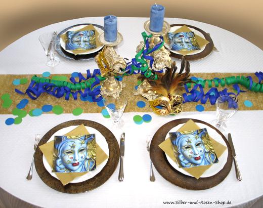 dekotipps zum venezianischen karneval silber und rosen shop. Black Bedroom Furniture Sets. Home Design Ideas