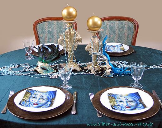Dekotipps zum venezianischen karneval silber und rosen shop - Tischdeko karneval ...