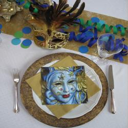 Dekotipps zum venezianischen karneval silber und rosen shop for Karneval dekoration tisch