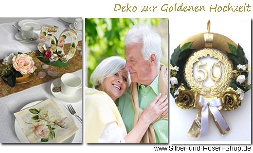 Goldene Hochzeit Geschenke Silber Und Rosen Shop