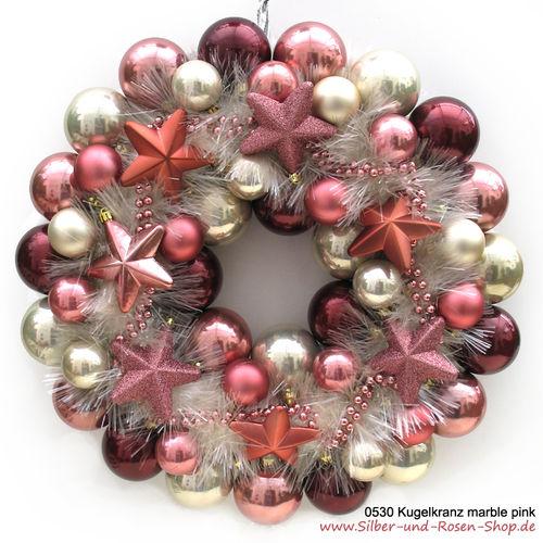 Türkranz Weihnachten türkranz weihnachten kugeln marble pink groß bestellen