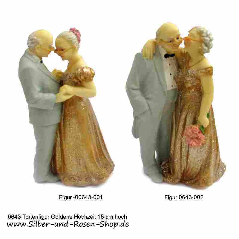 Tortenfigur Goldene Hochzeit Brautpaar 15 Cm