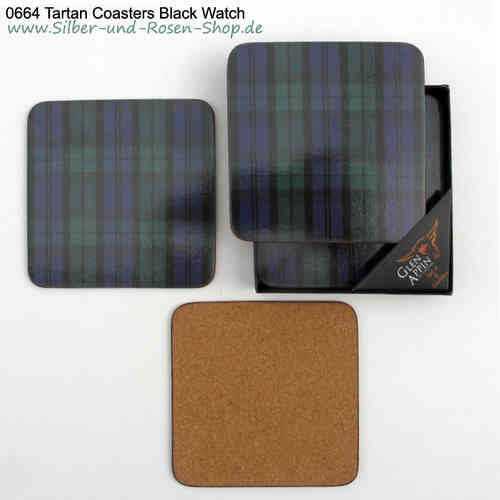 Tartan Coasters Black Watch 6er Set