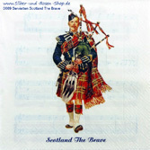 20 Papierservietten Scotland The Brave 33x33