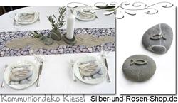 Deko Kommunion Konfirmation Silber Und Rosen Shop