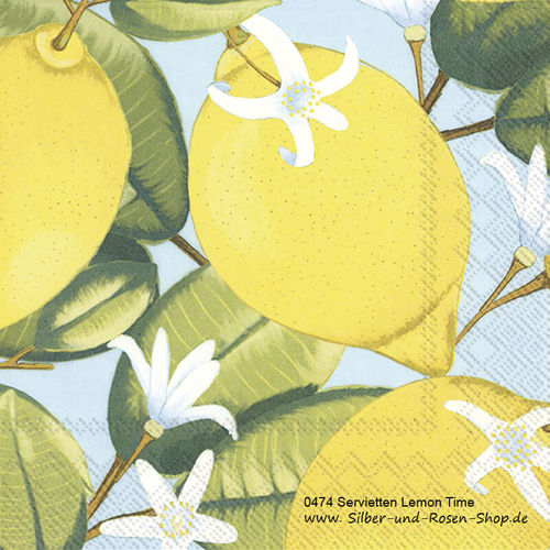 20 Papierservietten Lemon Time 33x33 cm