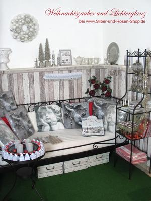 weihnachten in winterlichem wei silber gold. Black Bedroom Furniture Sets. Home Design Ideas