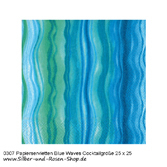Papierservietten Blue Waves 25 x 25 cm