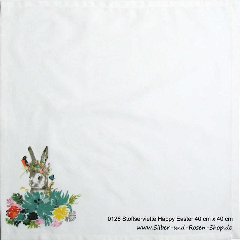 Deckchen Serviette Happy Easter 40 x 40 cm