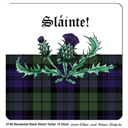 Tartan Bierdeckel Black Watch 10er Set
