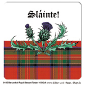 Tartan Bierdeckel Royal Stewart 10er Set