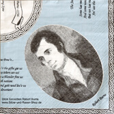 20 Papierservietten Robert Burns 33x33