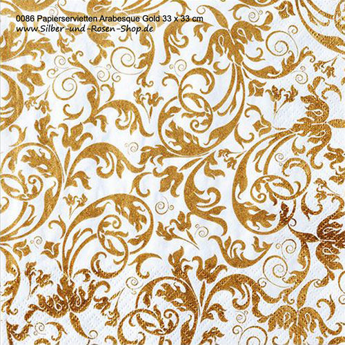 Papierservietten Arabesque Gold