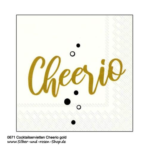 IHR Servietten Cheerio gold 25 x 25 cm