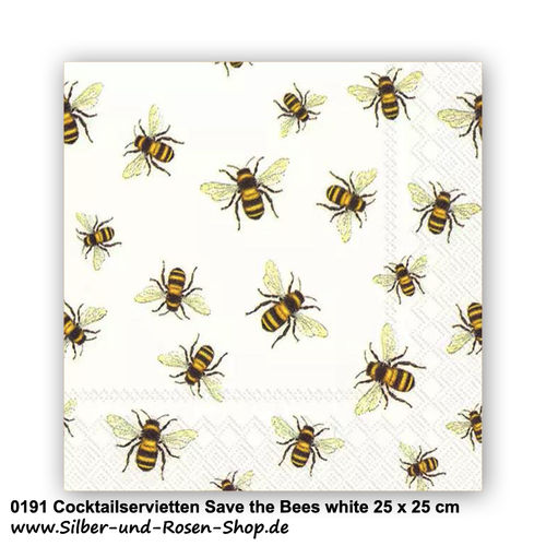 Servietten Save the Bees 25 x 25 cm