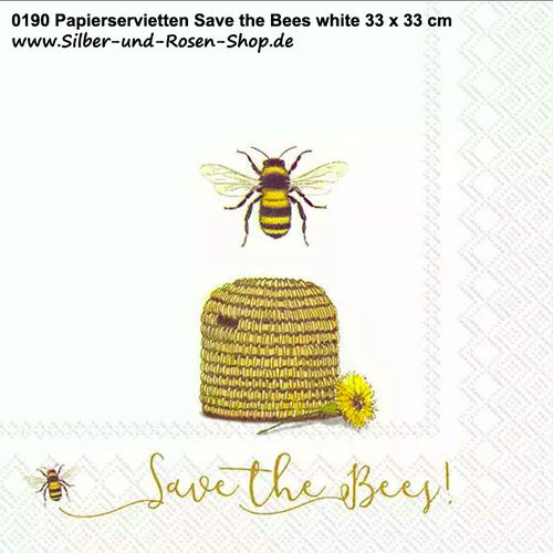 Servietten Save the Bees 33 x 33 cm