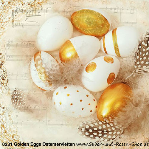 Golden Eggs Papierservietten Ostern