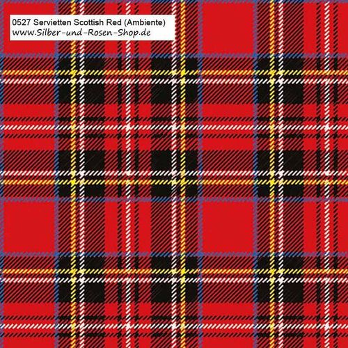 20 Papierservietten Scottish Red 33x33