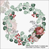 Servietten Wreath of Eucalyptus grey