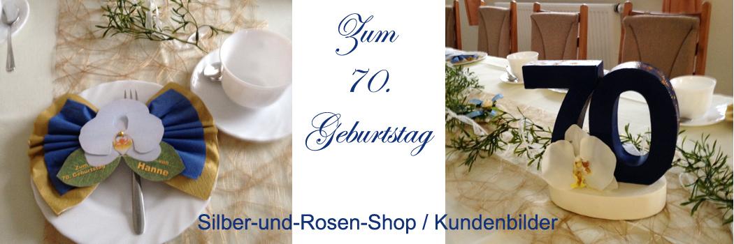 Deko Geburtstag Jubilaum Silber Und Rosen Shop