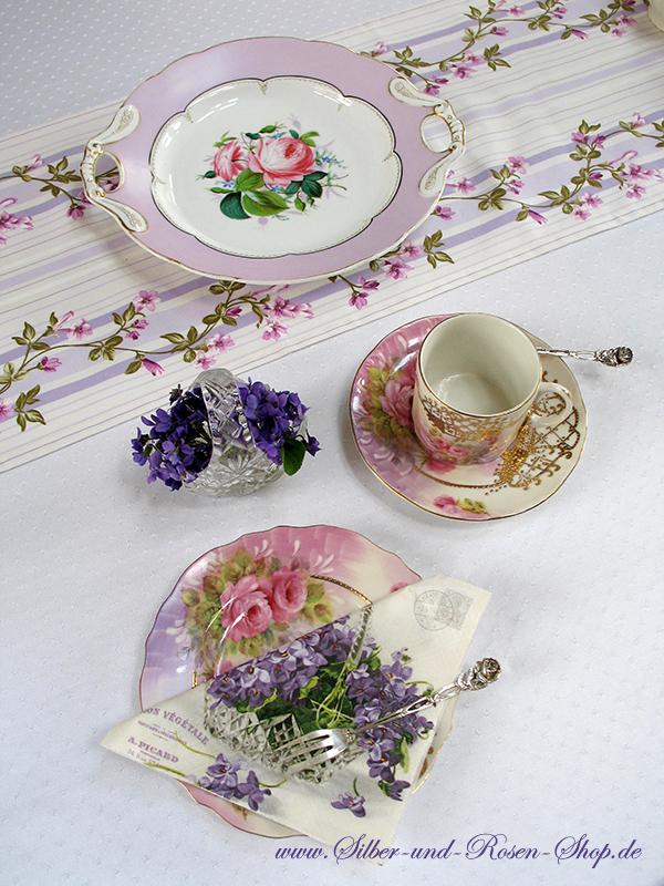 Tischdeko veilchen und rosen zum online bestellen for Tischdeko bestellen