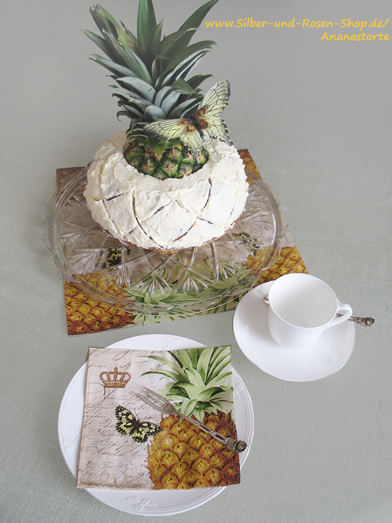 ananas torte silber und rosen shop. Black Bedroom Furniture Sets. Home Design Ideas